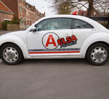 Flocage publicitaire sur véhicule utilitaire et léger à Lille