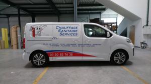 Flocage sur véhicule utilitaire à Lille