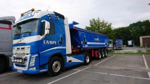 Flocage sur poids-lourd transport lampe à Lille