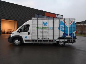 Flocage sur véhicule menuiplast à Lille